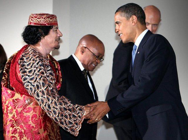 Obama-and-Ghadafi